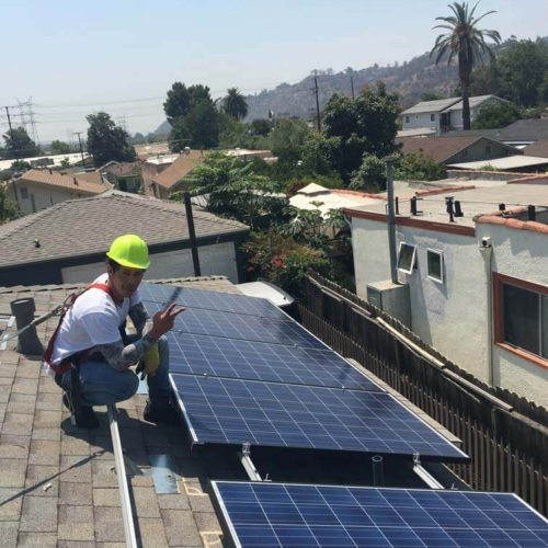 Solar Panel Roof Installation